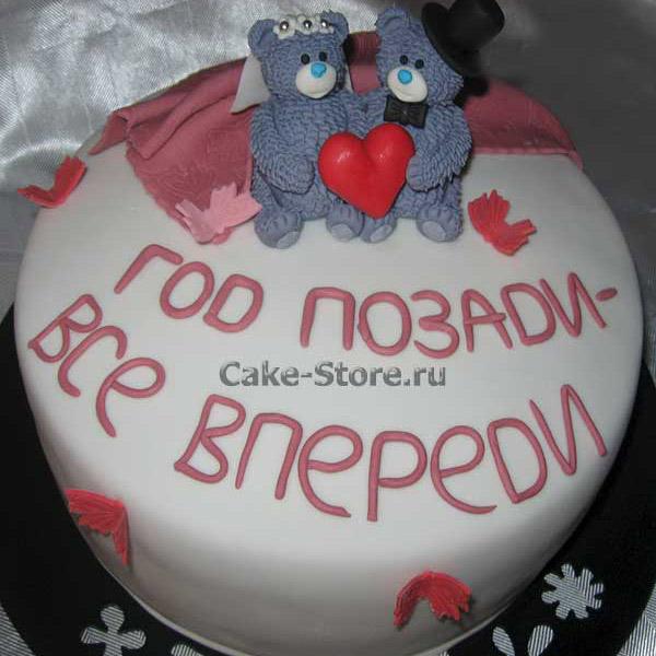 Торт на 1 год свадьбы мишки