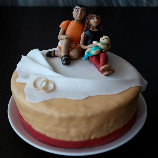 Торт на 1 год свадьбы семья
