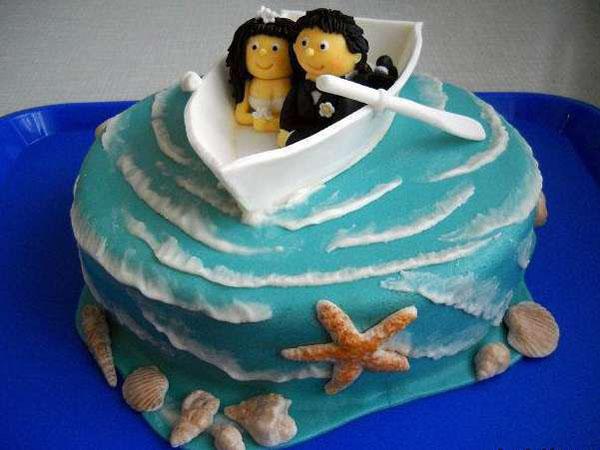 Торт на 1 годовщину свадьбы лодка