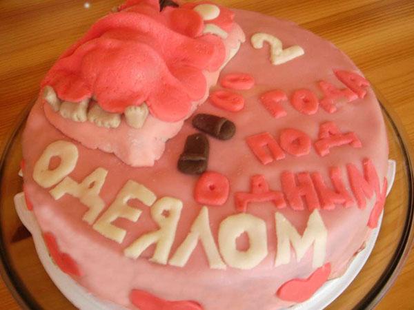 Торт на 1 годовщину свадьбы одеяло