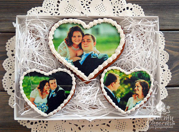 Пряники на 1 год свадьбы фотопечать