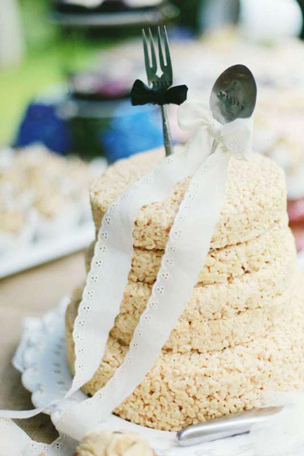 Торт на 1 год свадьбы с топпером Ложка + Вилка