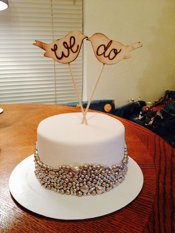 Торт на 1 год свадьбы с топпером