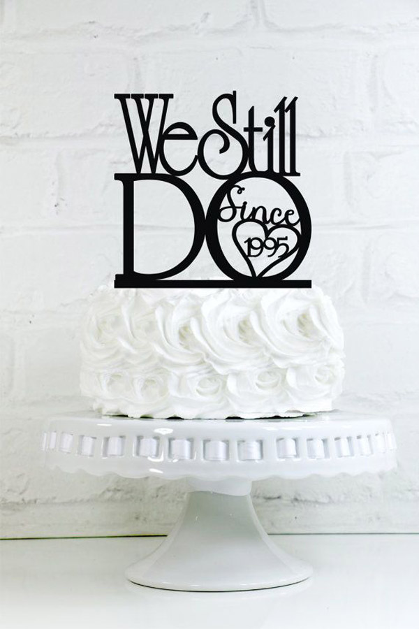 Торт на 1 год свадьбы с топпером начало в 1995
