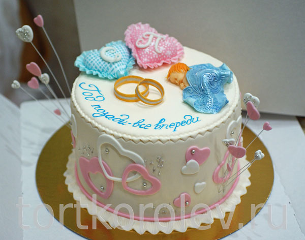 Торт на 1 год садьбы подушки кольца ребенок