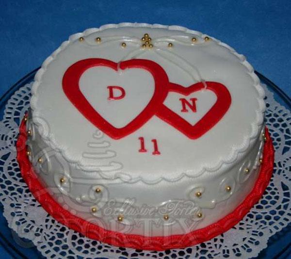 Торт на 1 год садьбы