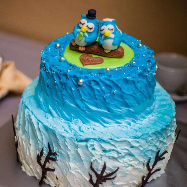 Торт на 1 год садьбы птицы