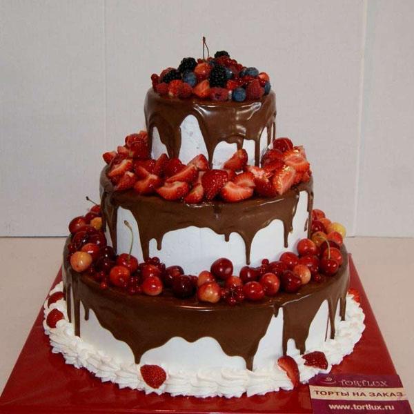 Торт на 1 год садьбы черешня
