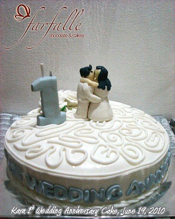 Торт на 1 год свадьбы единица