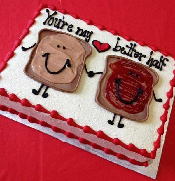 Торт на 1 год свадьбы бутерброды лучшая половинка
