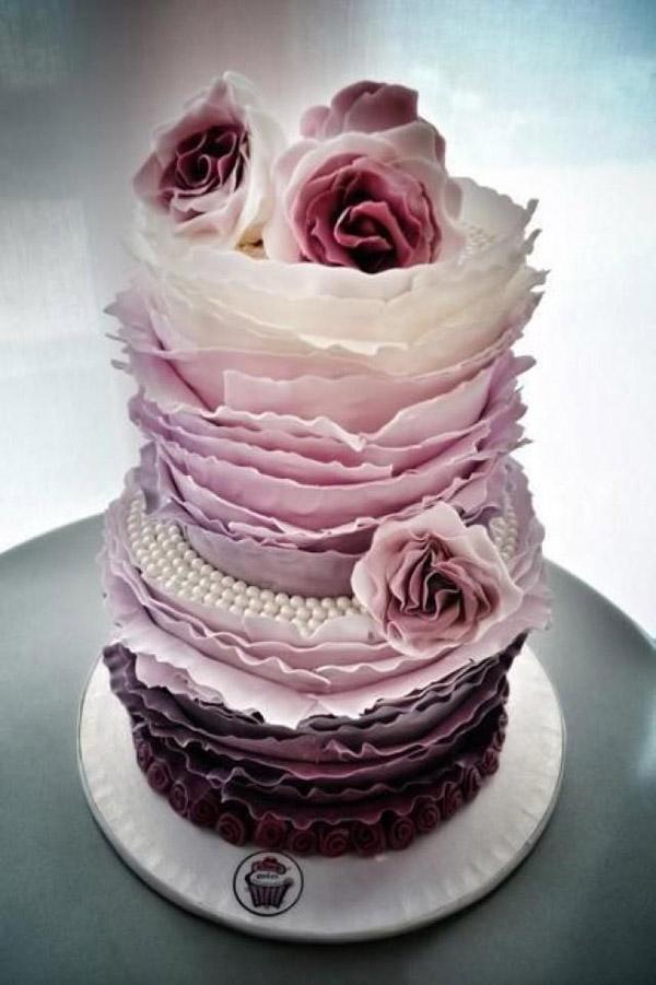 Торт лепести вариант 2