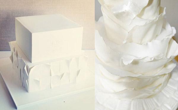 Торт из нескльких этажей в виде бумажных листов