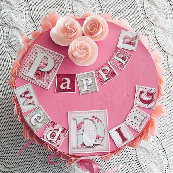 Торт на бумажную свадьбу