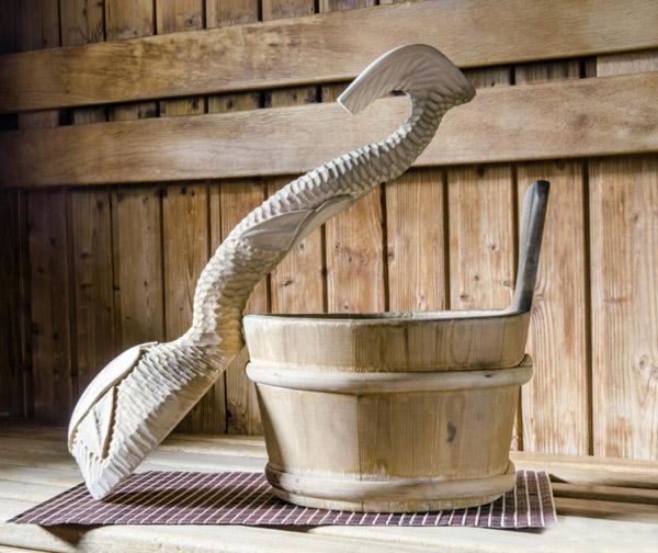 Деревянный ковш для бани или сауны