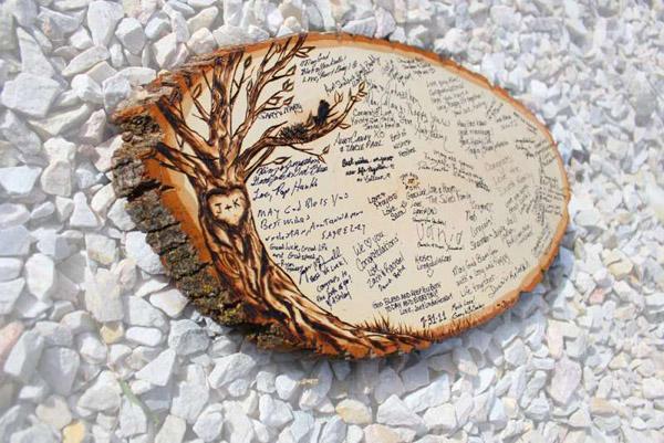 Пожелания на срубе дерева супругам на 5 годовщину