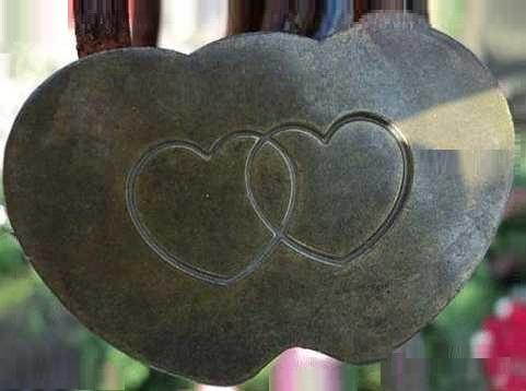 Медаль сердца из чугуна