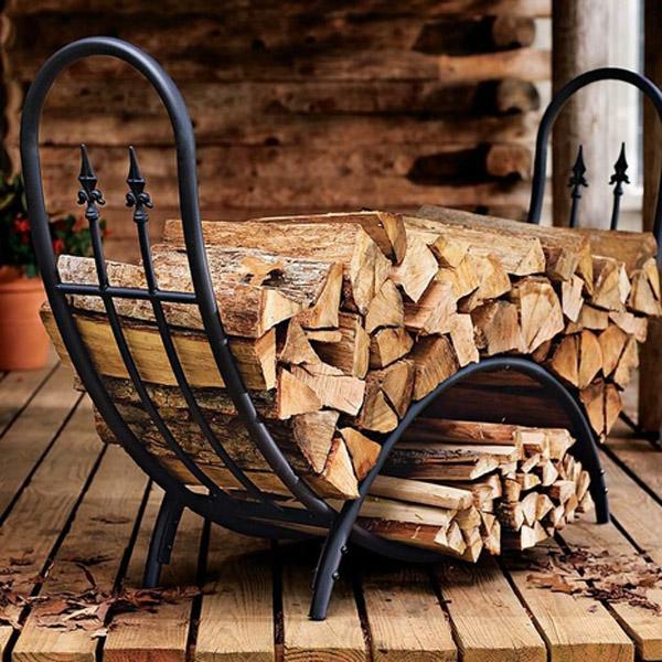Подставка для дров из чугуна