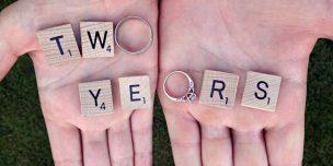 Открытки на 2 года свадьбы