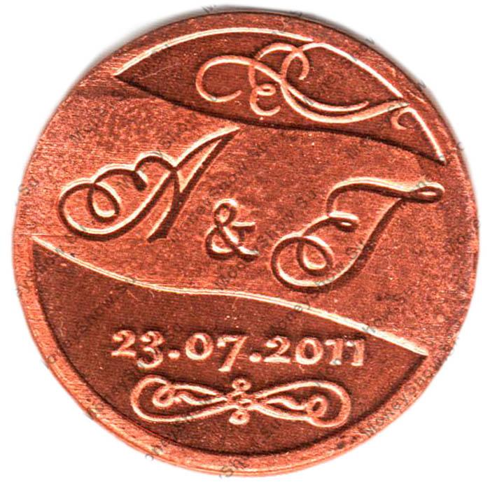Медные медали на годовщину с гравировкой
