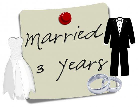 Женаты 3 года