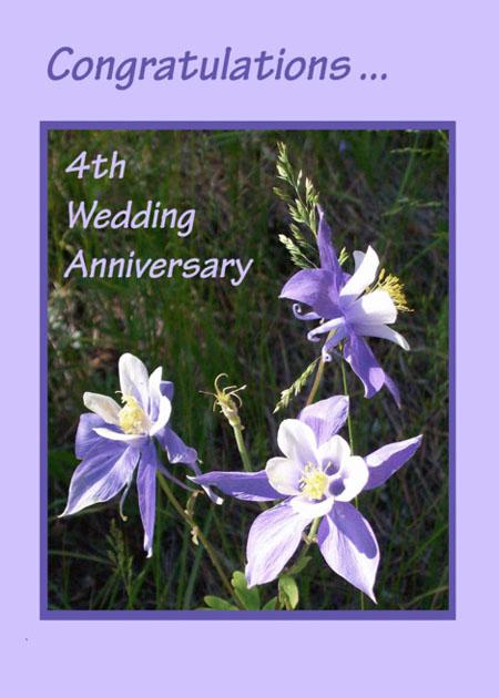 Юбилей свадьбы 4 года цветы льна