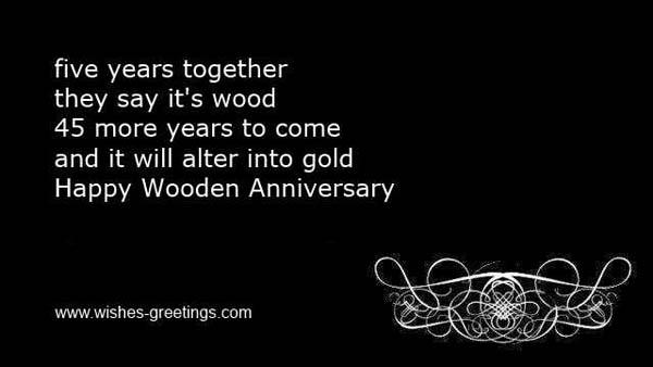 Открытка со стихами на 5 годовщину свадьбы на английском