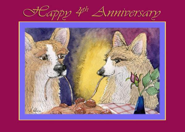 Картинка 4-я годовщина свадьбы собаки