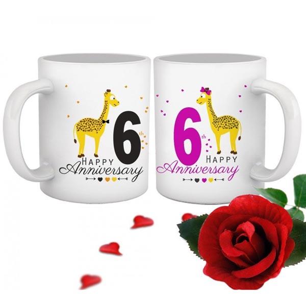 Картинка на 6 лет свадьбы чашки жирафы