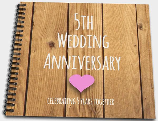 Годовщина деревянной свадьбы тетрадь