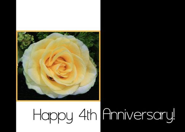 Картинка 4-я годовщина роза