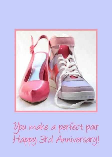 3 годовщина свадьбы обувь