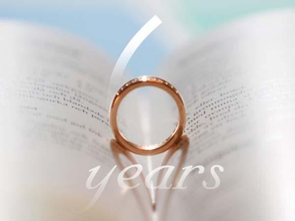 Картинка на 6 лет свадьбы кольцо и книга
