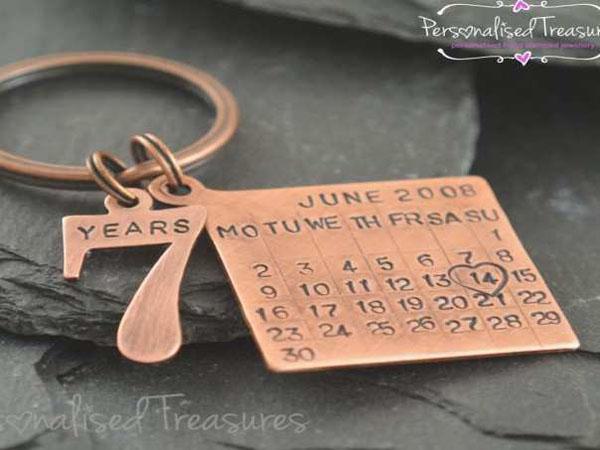Семь лет свадьбы медный брелок