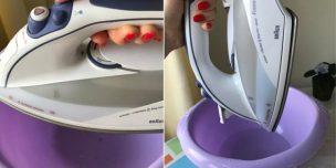 Как очистить утюг от накипи внутри